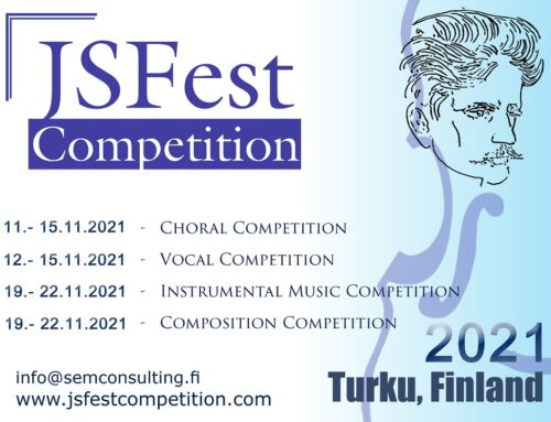 VIII INTERNATIONAL JSFest INSTRUMENTAL MUSIC COMPETITION (19.11.2021-22.11.2021) in Turku Finland